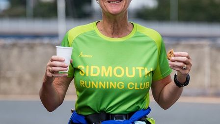Sidmouth Running Club member Jo Earlham during her 71st Marathon. Picture SIDMOUTH RUNNING CLUB