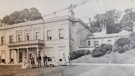 Peak House. The Lousada family outside the original building after renovation works in 1851. Picture