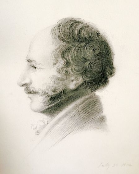 John Lousada, a one time squire of Peak House, drawn by John Bacon, who lived at Sidcliff. Picture: