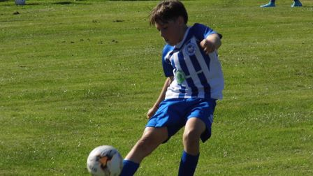 Ottery St Mary Under-14s George Durham in action during the win over Crediton. Picture: STEPHEN UPSH
