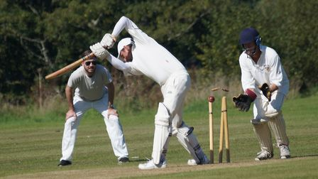 Tipton batsman David Thayre is bowled off a no ball when on eight. He went on to score 72 in the win