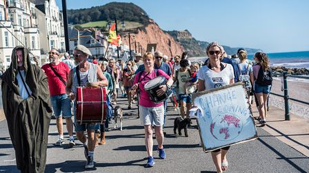 Sidmouth Extinction Rebellion. Picture: Sarah Hall
