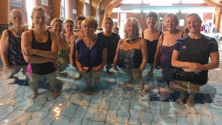 Wild swimmers in Sidmouth pool. Picture: East Devon District Council