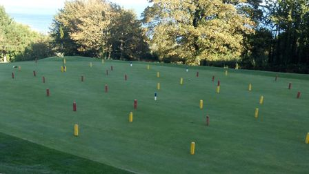 One of the tricky greens thatwas a challenge for players enjoying the Greenkeepers Revenge meeting a