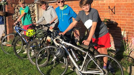 Toby Wells, Sam Harris, Jacob Green and George Anning are gearing up for the fundraising cycle. Pict