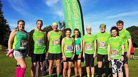 Some of the Mighty Green Team before the events took place at Bicton Arena on Saturday afternoon. Pi
