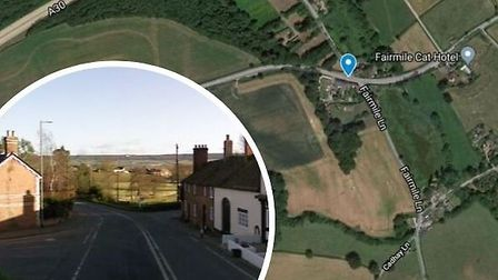 This is where the cyclist was found in the road at Fairmile, near Ottery. Picture: Google Maps