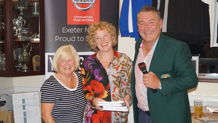 Two of the winning ladies team at the Sidmouth Golf Club Nissan Day, Sue and Sally Billinghurst with