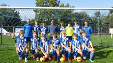 The Ottery St Mary Under-14s team who play in Division One of the Exeter & District Youth League. Pi