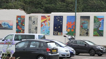 Artwork on the wall of the Ham car park. Ref shs 5321-30-15SH. Picture: Simon Horn