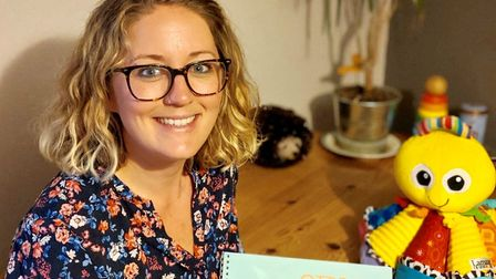 Emily Hobson-Martin and her new book Ottos Ocean. Picture: Emily Hobson-Martin