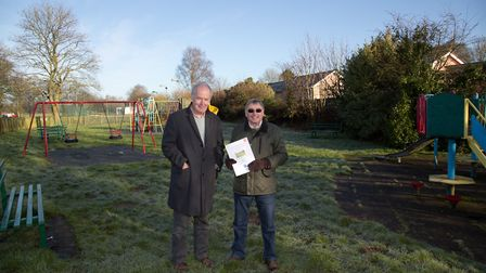 David Birch and David Boyle have been leading the project to overhaul the play area at Tipton Playin