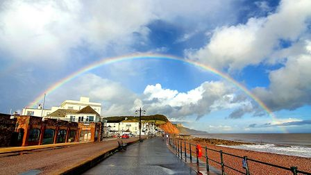 Ben Le Maitre has received lots of praise for capturing this beautiful rainbow picture in Sidmouth.