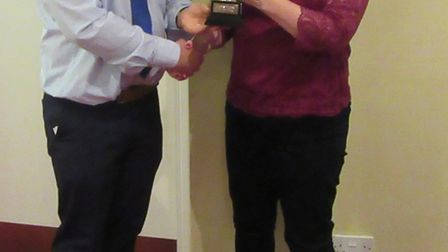 Kath Dockley who won Ladies Player of the Year. Picture: Ottery St Mary Cricket Club