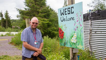 Patrick Phillips, horticultural manager, at the WESC site in West Hill on their open day. Ref edr 24