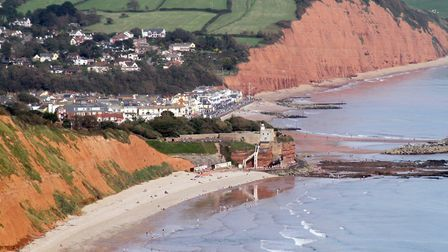 Sidmouth view from Peak Hill. Picture by Alex Walton. Ref shs 0659-36-12AW. To order your copy of th