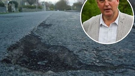 The number of pot holes in Devon has fallen by more than half in 12 months. Pictures: Archant