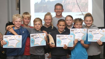 Sidmouth Surf Life Saving Club awards. Picture SIMON HORN