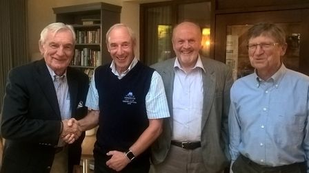 The Sidmouth Golf Club Senior Captain's Away Day winners (left to right) Colston Herbert, Chris Grub