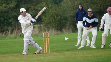 Tipton batsman Kevin McMeeking batting in the teams final game of the 2019 season, a match against N