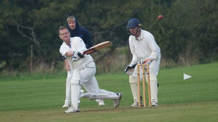 Tipton batsman Dave Jessop on his way to 28 in the teams final game of the 2019 season, a match agai