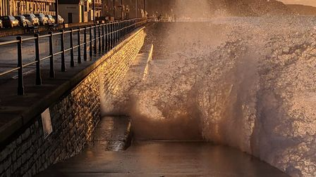 High tide and rough conditions made for some great photos at Sidmouth. Picture: Phil Smith