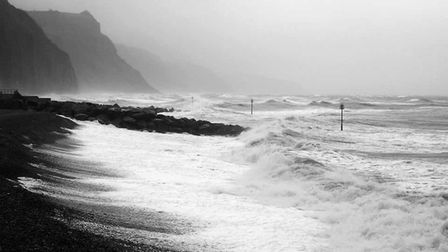 Big waves in Sidmouth. Picture: David Abel