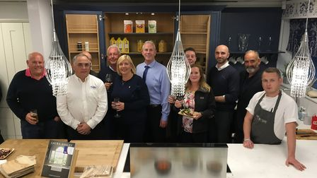 Fords South West staff and guests celebrate the opening of its new showroom. Picture: Clarissa Place