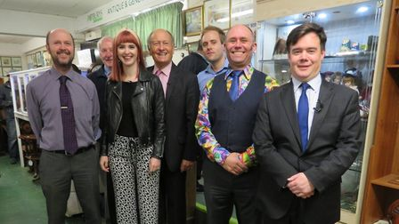 Potburys of Sidmouth welcomed antiques experts Charlie Ross and Izzie Balmer from Antiques Road Trip