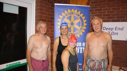 The Otters of Otter Valley Rotary Club take on the Swimathon. Picture: Keith Walton