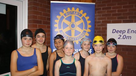 St John's School Dolphins take on the Swimathon. Picture: Keith Walton