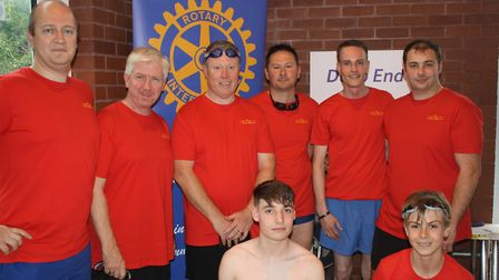 'Victorious' team from the Victoria Hotel take on the Swimathon. Picture: Keith Walton