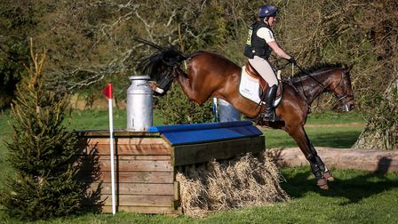 Pippa Funnel riding Billy Beware at Bicton. Picture WENDY SEARLE