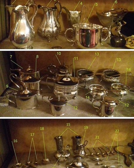 Some of the items stolen in raids on two homes in Sidmouth. Picture: Devon and Cornwall Police