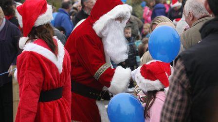 Santa greets the crowds at Otter Garden Centres in a previous year. Photo by Simon Horn. Ref sho 53