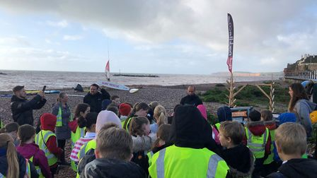 120 youngsters learnt about the sea and staying safe. Picture: Sid Valley Rotary