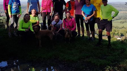 Sidmouth Running Club Sunday group. Picture SIDMOUTH RUNNING CLUB