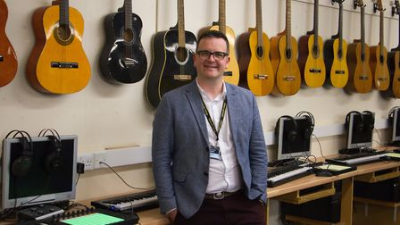 Richard Morgan, new music teacher at Sidmouth College. Ref shs 45 19TI 3491. Picture: Terry Ife