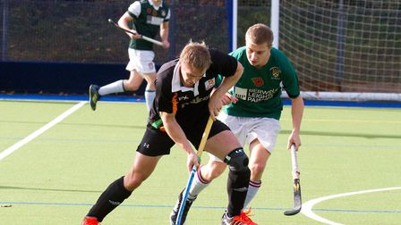Sidmouth & Ottery 1st mens team at home to University of Exeter. Ref shsp 46 18TI 4446. Picture: Ter