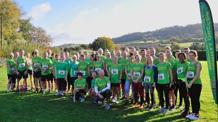 Sidmouth Running Club members at the inaugural LM Events Sidmouth 10k. Picture: BRUCE BOULTON