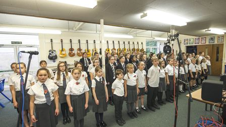 Pupils from Sidmouth College and Sidmouth Primary School have recorded a song for Remembrance Day. P