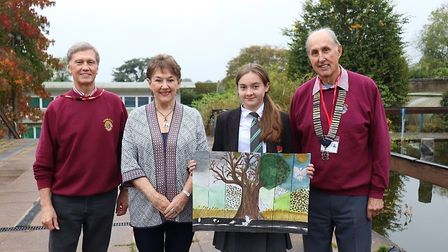 Sidmouth College students took part in the Lions club's 'Poster for Peace' competition. Picture: Ch