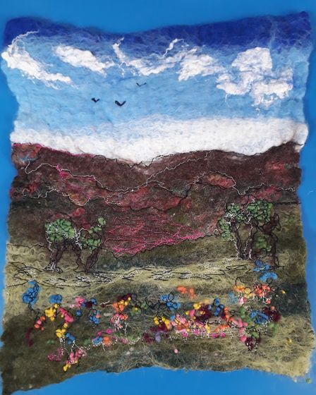 Felt landscape. Picture: Sidmouth Library