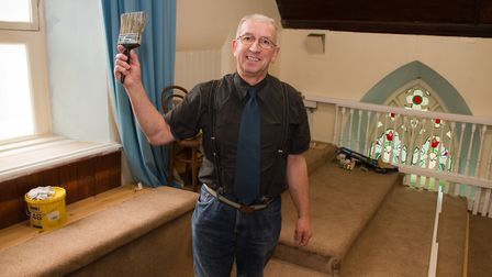 Paul O'Grady has refurbished the west gallery of the Disenters Church in Sidmouth. Ref shs 45 19TI 3