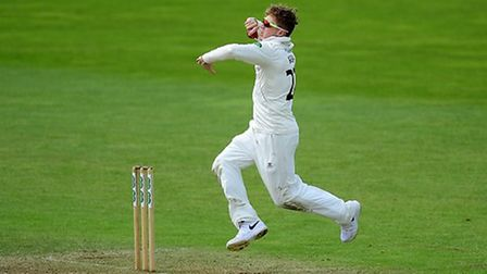 Dom Bess pictured on Day 4 of the Specsavers County Championship Division 1 match between Somerset a
