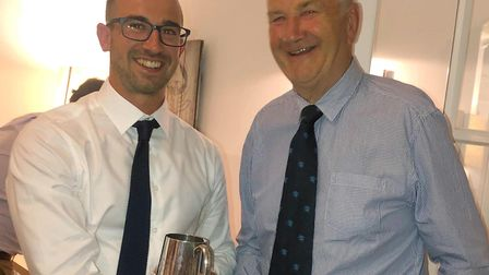 Alex Barrow and Doug Yeabsley. Picture SIDMOUTH CRICKET CLUB
