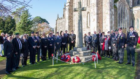 Ottery Remembrance service. Ref sho 46 19TI 3900. Picture: Terry Ife