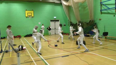 Sidmouth & East Devon Fencing Club members takingb part in savre,epee and foil. Picture: SEDFC