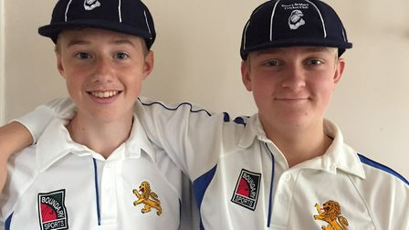 Ottery's Matt Jeacock and Lawrence Walker who have been selected to go on a tour of South Africa. Pi