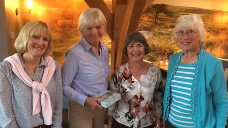 Sidmouth Golf Club ladies captain away day runners-up (left to right), Gerri Whitrow, Ros Eaton Gill